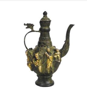 Fonte fabricantes atacado peças antigas antique cobre ornamentos cobre antigo oito enfeites de pote de fadas