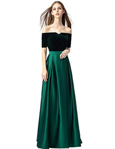 In Stock Prom Dresses 2019 Long with Sleeve Satin Formal Evening Dresses with Pockets for Women Formal Evening Occasion Dresses Real Image