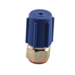 3 Piezas A / C Sistema de refrigeración de carga del puerto lado bajo del adaptador de reequipamiento R12 Para R134a desconexión rápida