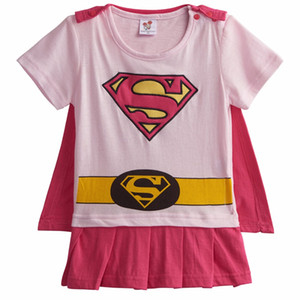 Baby Girl Wonder Woman Costume Rompers with Cape Newborn Robin Girl Bat Girl Playsuits Infant Party Fancy Sailor Moon Dresses