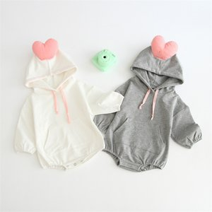 2019 Herbst-Winter-Baby-3D Love Body Fleece starke lange Ärmel Body
