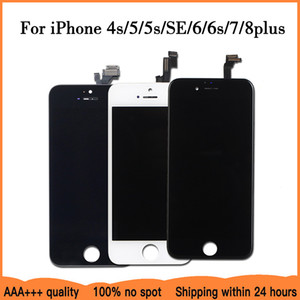 AAA+++LCD Display For iPhone 6 7 8 6S Plus Touch Screen Replacement For iPhone 5 5C 5S SE No Dead