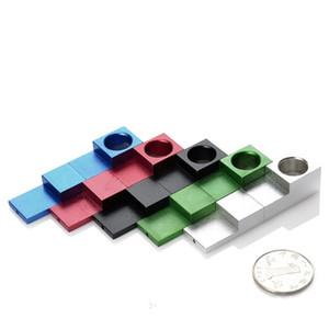 Plegables pipas de fumar con filtro imán silba Modelado del tubo del metal Mini HandPipes Para Herramientas de humo 5 colores 5 8ek E1