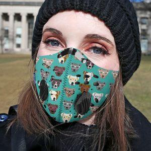 pitbull collection carbone pm 2,5 masque facial Femmes Hommes 3D Facemask Anti-pollution Courir Masques cyclisme Pince-nez tapabocas reutilizable