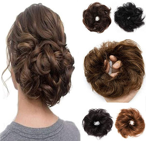 100% человеческих волос Remy Up волос Bun Extension Scrunchie резинка для волос Расширения Hairpiece Do Bun Ponytail Различные цвета