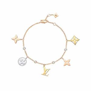 316L Titanium pulseira de flor de aço com flor oca pingente de fecho para as mulheres e jóias homem Frete grátis PS6389