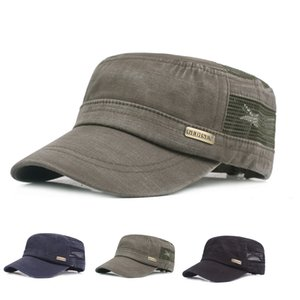 Casual Outdoor New Winter Dad Hat Warm with Ear Flaps Flat Military Hats for Men Sailor Cap tourism Leather flat top hat