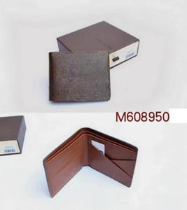 LV M60895 Paris ekose tarzı Tasarımcı erkek cüzdan ünlü erkekler lüks cüzdan özel tuval kutusu ile çoklu kısa küçük bifold cüzdan