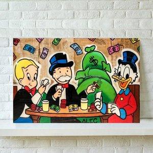Alec Monopolys игральные карты расписанную HD Печать граффити Картина маслом на холсте стены искусства для дома и офиса Deco Высокое качество G162 Va.