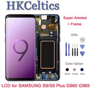 Pantalla de reemplazo AMOLED ORIGINAL para SAMSUNG Galaxy S9 LCD y digitalizador de pantalla táctil con marco S9 + Plus G960 G965 LCD