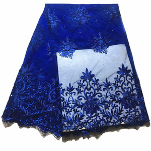 Fashion 2019 New african lace fabrics nigerian lace fabrics with  french fabric for wedding