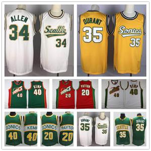 men Vintage SeattleSuperSonics Sonicsnba Gary 20 Payton Shawn 40 Kemp Kevin 35 Durant New Ray Allen Cheap Basketball Jerseys