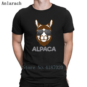 Cool Funny Alpaca T-Shirts Summer Top Spring Autumn Free Shipping Humor T Shirt Cotton Clothes Cool Anlarach Printed