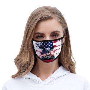 Máscara EE.UU. Día de la Independencia para las máscaras Señora cubrebocas color Rosa lavable poliéster EE.UU. Independencia autà newclipper mEfjJ