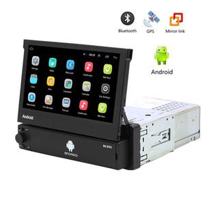 7 inç 9701 8.1 Bluetooth MP5 Çalar Eller serbest 16GB Dört Çekirdekli 1 Din Multimedya oynatıcı Stereo Ses Radyo Araç GPS Navigasyon Android