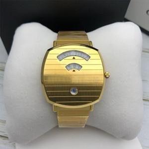 Высокое качество роскошные часы 38 мм унисекс женщины мужские часы кварцевый механизм золотые наручные часы из нержавеющей стали montre DE luxe с оригинальной коробкой
