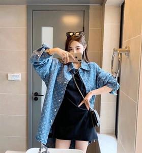 2020 Designer Casual femmes Blouses manches longues Blouses Denim Shirt Revers femmes Revers de hommes et des hommes pour femmes