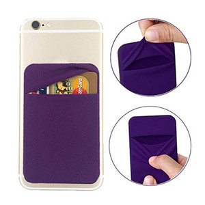 3M Phone Money Pouch Pocket Sticker Soft Sock Wallet Credit Card Cash Holder StandAdhesive Organizer Back Cover For iphone 11 Pro Max XS