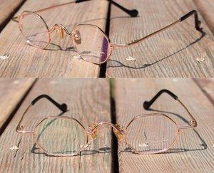Pure titanium super small weird glasses Octagonal glasses octagonal octagonalframe personalized full frame polygon can match myopia