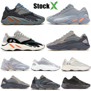 2020 Carbon blue 700 Магнит светоотражающая инерция тефра лиловый статический сплошной серый Kanye West кроссовки мужские дизайнерские туфли Женские кроссовки