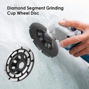 115 / 125мм Двухрядные шлифовального круга для Angle Grinder Аксессуары Алмазный Сегмент шлифовального Кубок Wheel Tool Disc