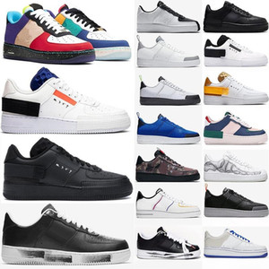 Nike N354 2020 Air Force 1 Mens Mulheres Casual Shoes Triplo Preto 1 Uma alta Dunk Low Platform Sb inferior Moda N.354 Sneakers Chaussures