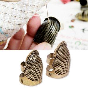 Металлической ретро шитье Thimble Pin иглы Finger Vintage Sewing наперсток Diy Шитье Инструменто вязание REOlg