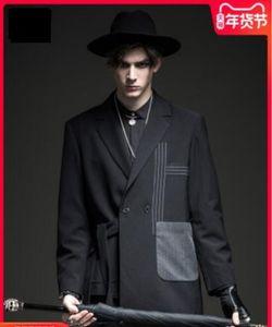 S-6XL !! outono dos homens e inverno 2020 preto paletó magro dos homens novos
