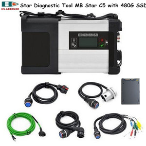 High quality MB STAR C5 for Benz obd 2 connectors SD C5 and 2020 06 Software SSD(512G) car diagnostic tools SD C5 supports WIFI