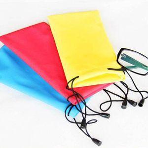 Glasses Storage Container Random Colors Waterproof Microfiber Soft Eyewear Accessories 10Pcs Sunglasses Bags Drawstring