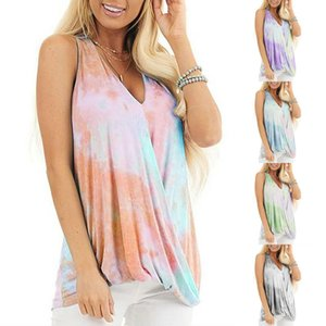 Fashion Women Vest T Shirt with Printed New Arrival Womens Tshirts Casual Sexy V-Neck Vest Tees Tops Clothing Size S-3XL