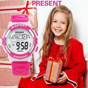 1 Sport Led Boy Girl Pulsera Relojes Caucho Moda Niños Digital Smart Analog Quartz Watch Alarm Date Sports Reloj de pulsera