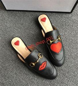 Gucci slippers New Buckle Bee Snake été Lapel dentelle velours Pantoufles en cuir femmes de luxe Motif Taille 35-42