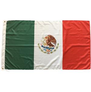 Banderas Bandera mexicana de 3x5 pies de aduana del país Nacionales de México pies 5x3 90x150cm cubierta exterior Bandera México con alta calidad