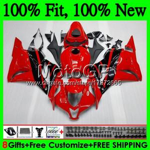HONDA CBR600RR 10 CBR 600 RR F5 09 10 11 12 61GP22 CBR 600RR Kırmızı siyah CBR600 RR 2009 2010 2011 2012 Fairing Bodywork için Enjeksiyon + Tank