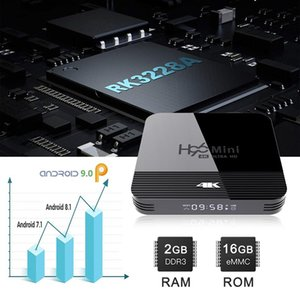 H96 Мини-H8 Smart TV Box Android 9,0 телеприставки RK3228A 4K Bluetooth 4.0 H.265 2.4G 5G Wi-Fi Media Player Google плеер Quad Core с Remo