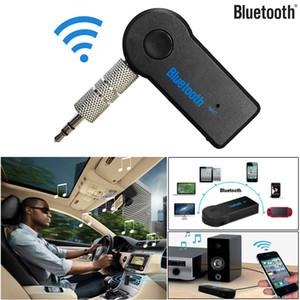 Adattatore dell'universale 3.5mm vivavoce Ricevitore Bluetooth Car Kit A2DP Wireless FM Transmitter AUX audio di musica con il Mic per il telefono MP3 scatola al minuto