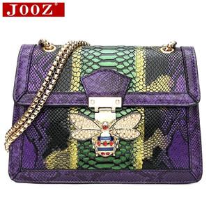 JOOZ Designer-Handtaschen Qualitätsfrauenhandtaschen aus Leder Serpentine Frauen Schultertasche für Frauen-Parteiabendkupplungsgeld Y191029