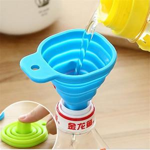 Kitchen Home Mini Klappteleskop Langhalstrichter Kreative Haushaltsflüssigkeitsabgabe Mini Trichter Küchenhelfer