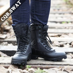 CQB.SWAT Militar Bonito respirável Tactical Mens Exército Botas luz Combate Wearable Black Zipper Bota ZD-030