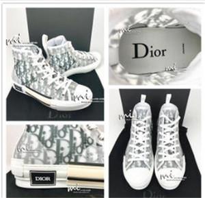 19SS de luxe de DIOR Homme CONVERSE Oblique Kaws par Kim jones B22 High Top Bleu Transparent casual B23 triple chaussures de sport en cours