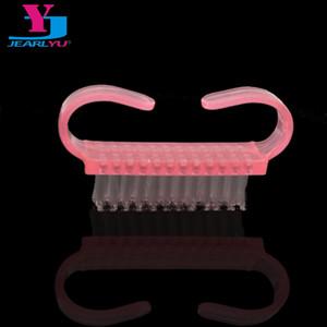 40x много ногтей кисти пыли щетка для чистки профессиональная стиральная щетка розовый маникюр педикюр ногтей инструменты малый угол дизайн
