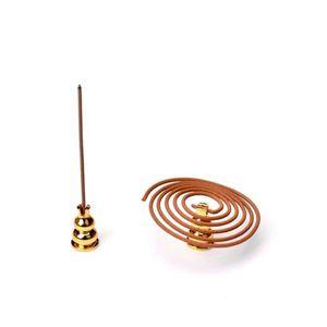 Aleación de cobre horno de inserción de incienso de incienso línea de base de incienso platillo Barra de incienso Inicio Aromaterapia Accesorios F3221