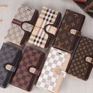 Casos carteira de telefone para iPhone 8 XR XS 11 Pro Max Samsung Galaxy S20 S20P S20U S10E S10 Nota 10 Plus com cartão de bolso