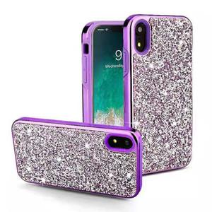 Del Rhinestone del diamante di scintillio Caso 2 in 1 placca Bling della copertura del telefono di iPhone 11 XR XS MAX Samsung S10 S10 all'e Inoltre Nota 10 LG Stylo 5 K40