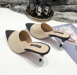 Femmes chaussures escarpins Pointu couleurs assorties perle cuir de talons hauts OL Robe Lady Chaussures simples