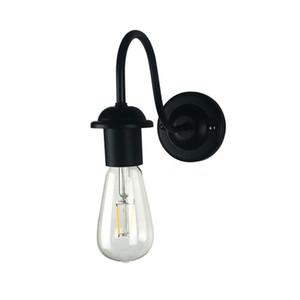 American Metal Loft lámpara de pared de la vendimia Industrial ligero de la pared de la cabecera brazo doblado precio al por mayor apliques accesorio de 110V / 220V promoción