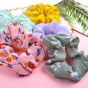 Moda Scrunchies Kafa şifon Çiçek hairbands Kalın Barsak Saç Bağları İp Kadınlar Kızlar at kuyruğu Tutucu Aksesuarları Yeni D51106 yazdır