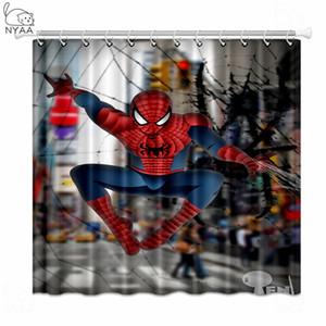 Nyaa Spiderman Miracolo Superhero Tende da doccia poliestere tende per la decorazione domestica