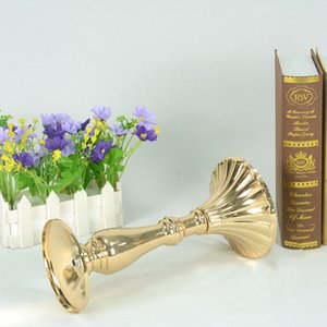 Gold Candle Holders Exquisite Candlestick Flower Vase Wedding Stand Table Centerpieces Flower Rack Road Lead Home Decoration